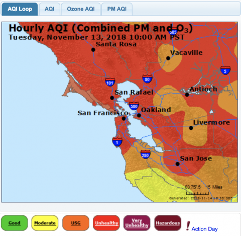 San Francisco Air Quality Index Map