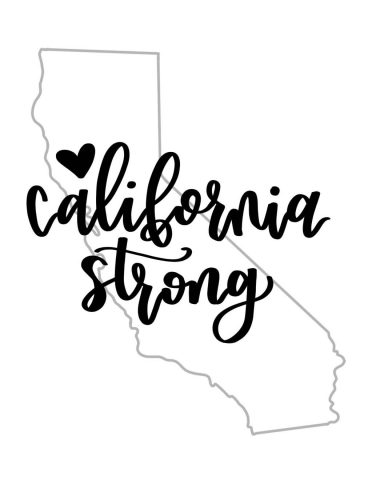 California Strong Graphic