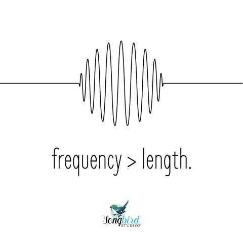 Songbird Studios Tips Frequency Length Graphic