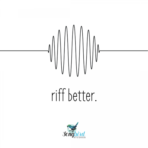 Songbird Studios Singing Tips Riff Better Graphic